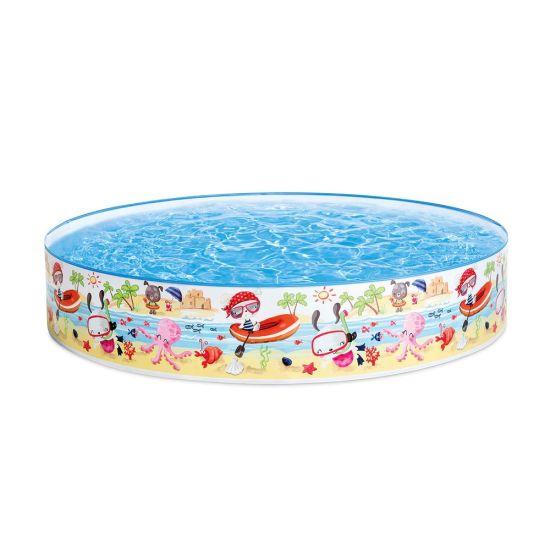 Intex | 57140J | 47in x 10in, Beach Days Snapset Instant Kids Swimming Pool