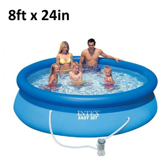 Intex   28107EH   8ft x 24in, Inflatable Above Ground Swimming Pool with Filter