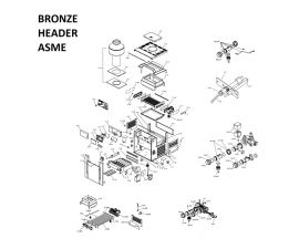 Low Nox 266A BRONZE Headers ASME Heater PARTS