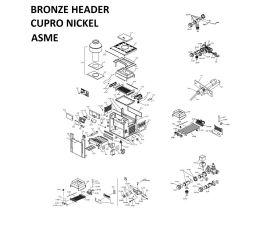 Low Nox 407A BRONZE CUPRO-NICKEL Headers ASME Heater PARTS