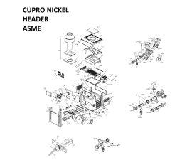 Low Nox 407A CUPRO NICKEL Headers ASME Heater PARTS