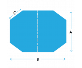 Custom Spa Covers - Four Cut Corner Rectangle