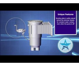 AquaStar   SKR201   Flow Star Standard Skimmer, 2 inch