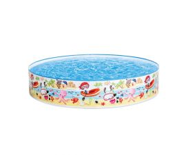 Intex | 57140J | 47in x 10in, Beach Days Snapset Instant Kids Swimming Pool