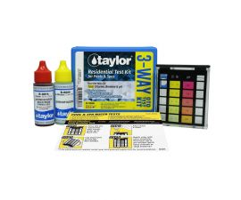 Taylor Technologies K-1000 Residential OTO 3-Way Test Kit for Total  Chlorine Bromine pH