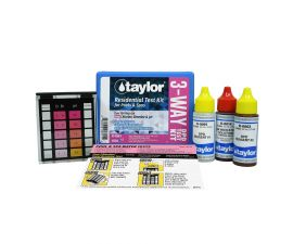 Taylor Technologies K-1001Basic Residential DPD 3 Way Test Kit for Chlorine Bromine and pH