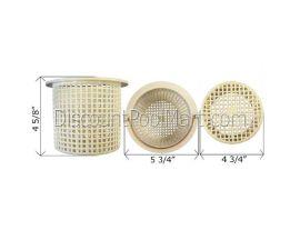 """Aqualine   P-5   Pump Basket, Aqua-Flo or Sta-Rite, 6"""""""