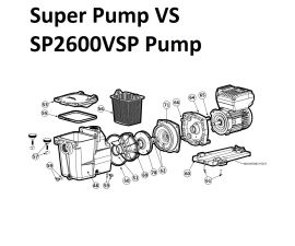 Super Pump VS SP2600VSP Pump Parts